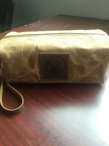 Custom high Quality Brown Waxed Canvas Dopp Kit Manufacturer in China pictures & photos