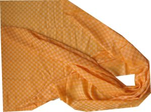 Cashmere Chess Plaid Thin Shawl Orange pictures & photos