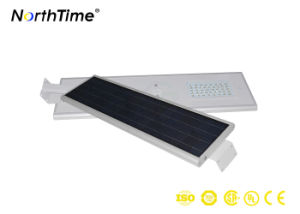 LED Solar Panel Street Lights All-in-One Design PIR Sensor Ce RoHS IP65 Ies 3 Years Warranty pictures & photos