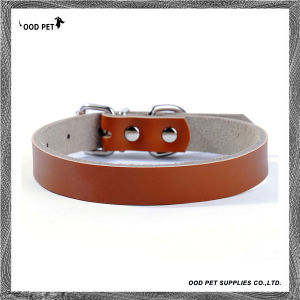 Custom Plain Leather Dog Collars Spc7018-1 pictures & photos