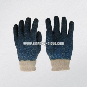 Nitrile Coated Knitted Wrist Work Glove (5100) pictures & photos