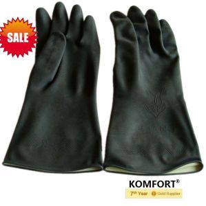 Industry Safety Labor Hand Black Work Latex Gloves (JMC-425C) pictures & photos