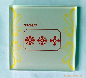 Manufacturer of Silkscreen Decorated Glass Switch Panel pictures & photos
