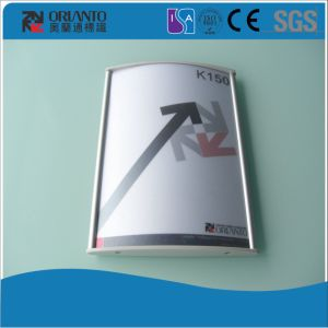 Silver Paper Change Aluminium Wall Mounted Signage pictures & photos