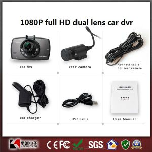 Version Car Camera Full HD Dual Lens Car DVR with Parking Monitor pictures & photos