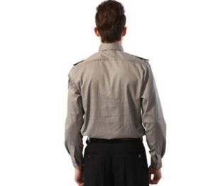 China Factory New Model Grey Long Sleeves Security Guard Uniform Shirts pictures & photos