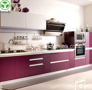 Latest Free Design High Glossy Lacquer Kitchen Cabinet pictures & photos