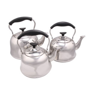 Hot Sale Bakelite Handle Stainless Steel Teapot pictures & photos