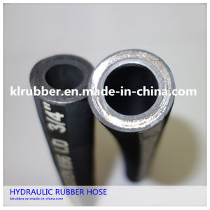 SAE 100r2at/2sn Wire Braid Reinforcement Hydraulic Rubber Hose pictures & photos
