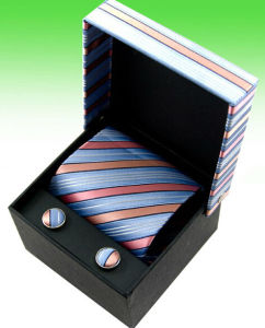 Square Printed Paper Showing Box for Tie and Cuff Buttons pictures & photos