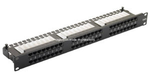 48 Port Cat. 5e/Cat. 6 1u Patch Panel pictures & photos