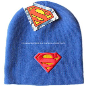 OEM Produce Customized Cartoon Men′s Daily Warm Knit Embroidered Wool Beanie Cap pictures & photos