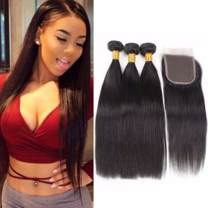 "Brazilian Lace Closure Free Style Silky 16"" Natural Color pictures & photos"