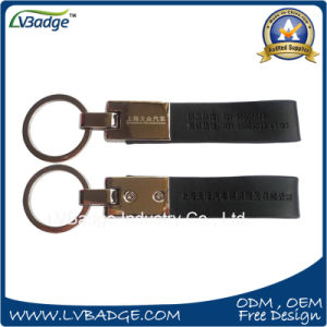 Promotion Gift Metal Keyring Leather Keychain with Custom Logo pictures & photos