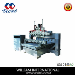 8 Heads 3D Multiple Rotary Woodworking CNC Router with Table Move pictures & photos