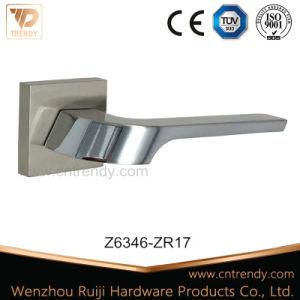 Zinc Furniture Lever Handle on Rose, Door Hardware (Z6323-ZR13) pictures & photos
