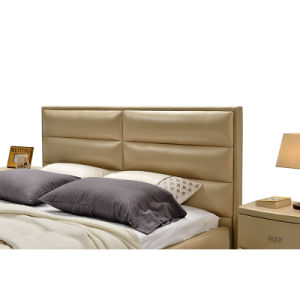 Model Leather King and Queen Size Bed Furniture G7005 pictures & photos