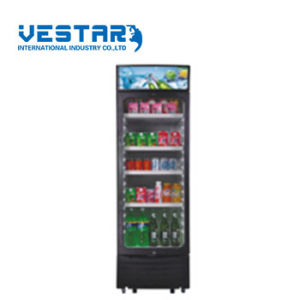 Glass Door Refrigerator Showcase with 310L pictures & photos