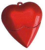 Plastic Heart Shape USB Flash Drive (OM-P315) pictures & photos