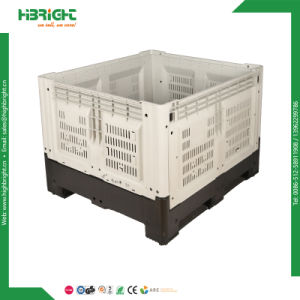 Large Collapsible Plastic Pallet Box Used with / Without Lid & Wheels pictures & photos