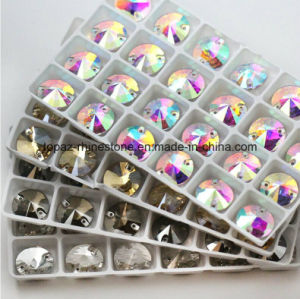 8-18mm Glass Bead Rhinestone Sew on Rivoli Crystal Beads (SW-Rivoli 8-18mm crystal ab) pictures & photos