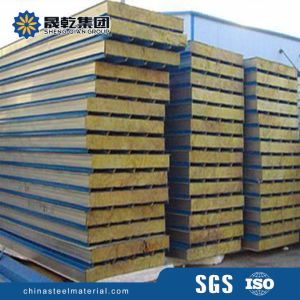 Fire Resistant Rockwool Insulated Sandwich Panel pictures & photos
