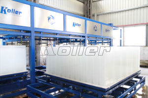 10000 Kg/Day Automatic Block Ice Machine Clean Block Ice and Automatic Ice Harvest pictures & photos