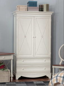 Wooden Furnituer-White Wardrobe with Drawer pictures & photos