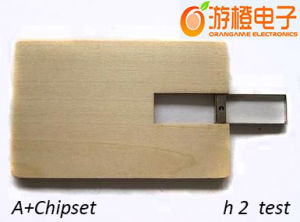 Wooden Card USB Flash Drive (OM-W025) pictures & photos