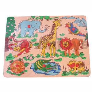 Wooden Puzzle with Zoo Animals (81006) pictures & photos