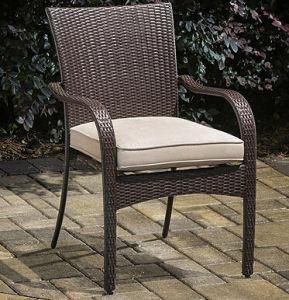 Rattan Wicker Garden Outdoor Stacking Stackable Arm Chair