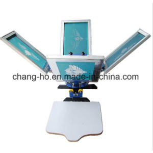 Wholesale Four Color Garment T-Shirt Silk Screen Printer pictures & photos