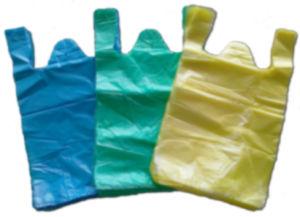 HDPE Plain Plastic Vest Handle Bag pictures & photos