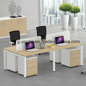 Popular Computer Desk Wood Office Furniture with Partition