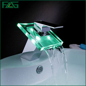 Flg Waterfall LED Faucet Chrome Mixer/Tap/Faucet pictures & photos
