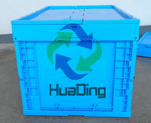 600*400*320mm Collapsible Solid Closed Plastic Container Crate pictures & photos