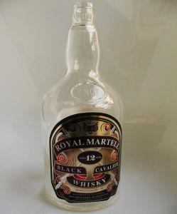 Embossing Bottle, Whisky Glass Bottle (KIF_7889)