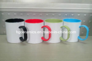 11oz Sublimation Coated Plastic Mug, Sublimation Coated Plastic Color Mug pictures & photos