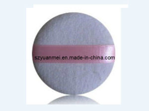 Cotton Makeup Powder Puff with Silk Ribbon (YMP63)