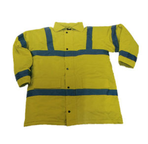 Oxford Waterproof Fluorescent Safety Coat with Reflective Bands (HS-J003)