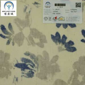 Printed 14*14 Pure Linen Fabric pictures & photos