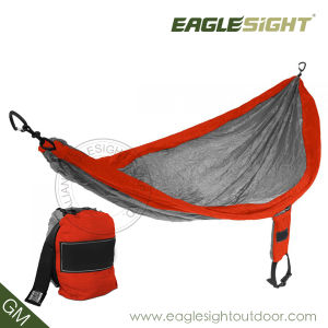 Parachute Nylon Hammock with Compression Straps (by Eaglesight)
