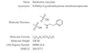Betahistine Mesylate, Betahistine Mesilate, Betahistine HCl CAS# 54856-23-4