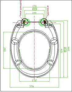 Fashion Design Decorative Sanitary Duroplast Wc Seat pictures & photos