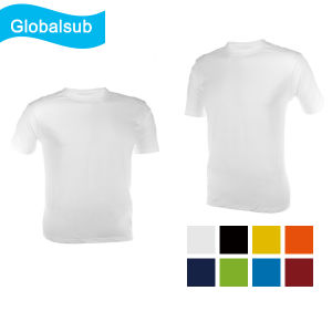 Blank White Sublimation Cotton Tee Shirt Printing pictures & photos
