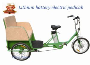 Three Wheel Tricycle Rickshaw Electric Pedicab (FP-ETR001) pictures & photos
