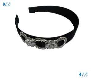 Shiny Rhinestone Decoration Black Headband pictures & photos