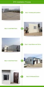 Luxury Low Cost EPS Sandwich Wall Panel Steel Prefab House pictures & photos
