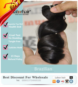 8A Human Hair Extension Natural Brazilian Remy Virgin Hair Lbh 005 pictures & photos
