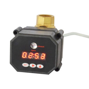 Hot Sale 1 Inch Electric Flow Shut off Timer Drain Ball Valve with CE pictures & photos
